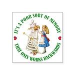 ALICE_POOR MEMORY_GREEN copy Square Sticker 3