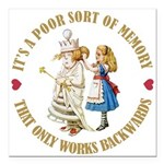ALICE_POOR MEMORY_GOLD copy Square Car Magnet