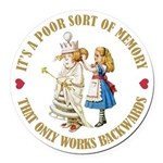 ALICE_POOR MEMORY_GOLD copy Round Car Magnet