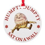 ALICE_HUMPTY DUMPTY_RED copy Round Ornament