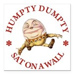 ALICE_HUMPTY DUMPTY_RED copy Square Car Magnet
