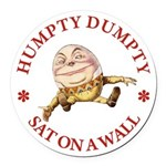 ALICE_HUMPTY DUMPTY_RED copy Round Car Magnet