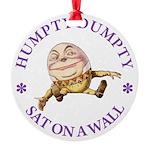 ALICE_HUMPTY DUMPTY_PURPLE copy Round Ornament