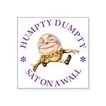 ALICE_HUMPTY DUMPTY_PURPLE copy Square Sticker