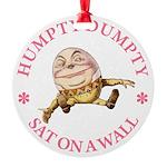 ALICE_HUMPTY DUMPTY_PINK copy Round Ornament