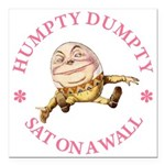 ALICE_HUMPTY DUMPTY_PINK copy Square Car Magne
