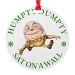 ALICE_HUMPTY DUMPTY_GREEN copy Round Ornament