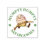 ALICE_HUMPTY DUMPTY_GREEN copy Square Sticker