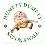 ALICE_HUMPTY DUMPTY_GREEN copy Square Car Magn