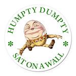 ALICE_HUMPTY DUMPTY_GREEN copy Round Car Magne
