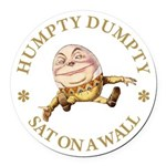 ALICE_HUMPTY DUMPTY_GOLD copy Round Car Magnet