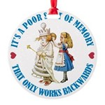 ALICE_POOR MEMORY_BLUE copy Round Ornament