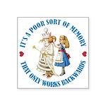 ALICE_POOR MEMORY_BLUE copy Square Sticker 3