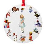 WONDERLAND_ ALICE JWSMITH copy Round Ornament