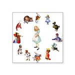 WONDERLAND_ ALICE JWSMITH copy Square Sticker