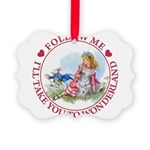 ALICE_follow me MJ RED 2 copy Picture Ornament