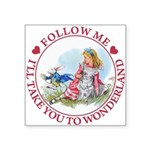 ALICE_follow me MJ RED 2 copy Square Sticker 3