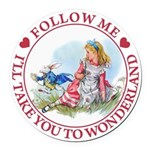 ALICE_follow me MJ RED 2 copy Round Car Magnet