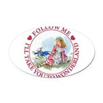 ALICE_follow me MJ RED 2 copy Oval Car Magnet