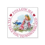 ALICE_follow me MJ PINK 2 copy Square Sticker