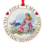 ALICE_follow me MJ GOLD 2 copy Round Ornament
