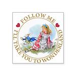 ALICE_follow me MJ GOLD 2 copy Square Sticker