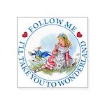 ALICE_follow me MJ BLUE 2 copy Square Sticker