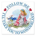ALICE_follow me MJ BLUE 2 copy Square Car Magn