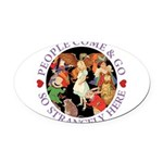 ALICE_people come and go_PURP copy Oval Car Ma