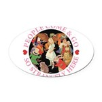 ALICE_people come and go_PINK copy Oval Car Ma