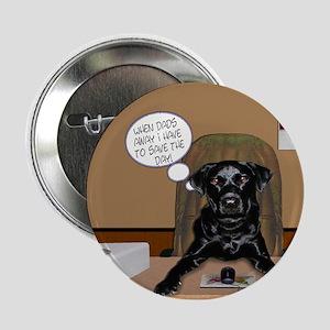 Black Labrador Computer Button