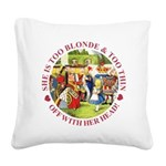 alice too thin_red copy Square Canvas Pillow