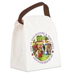 alice too thin_purple copy Canvas Lunch Bag