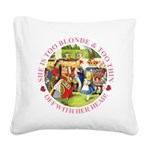 alice too thin_pink copy Square Canvas Pillow
