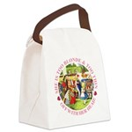 alice too thin_pink copy Canvas Lunch Bag