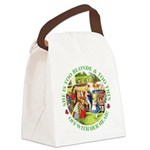 alice too thin_GREEN copy Canvas Lunch Bag
