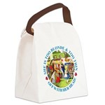 alice too thin_blue copy Canvas Lunch Bag