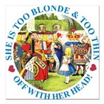 alice too thin_blue copy Square Car Magnet 3