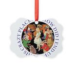 ALICE_CRAZY_PURPLE copy Picture Ornament