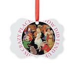 ALICE_CRAZY_PINK copy Picture Ornament