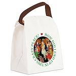 ALICE_CRAZY_GREEN copy Canvas Lunch Bag