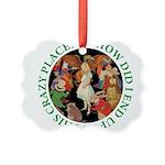 ALICE_CRAZY_GREEN copy Picture Ornament