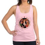 ALICE_CRAZY_GOLD copy Racerback Tank Top