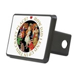 ALICE_CRAZY_GOLD copy Rectangular Hitch Cover