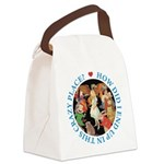 ALICE_CRAZY_BLUE copy Canvas Lunch Bag