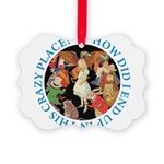 ALICE_CRAZY_BLUE copy Picture Ornament