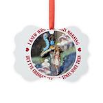 ALICE_CATERPILLAR_RED_3 copy Picture Ornament