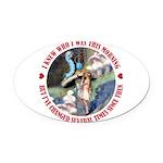 ALICE_CATERPILLAR_RED_3 copy Oval Car Magnet