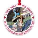 ALICE_CATERPILLAR_PINK_3 copy Round Ornament