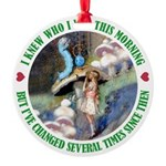 ALICE_CATERPILLAR_GREEN_3 copy Round Ornament
